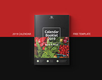 Free Calendar 2019 Indesign Template