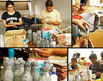 """Workshop fun with Materials """"Recycle and Reuse"""" 2014"""
