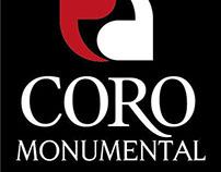 Brand design for 'Coro Monumental'.