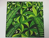linocut: jungle