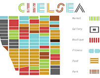 Manhattan Chelsea neighborhood symbols redesign