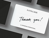 S.I.Village Intergrated Brand eXperience Design