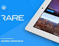 RARE - Material Design WordPress Theme