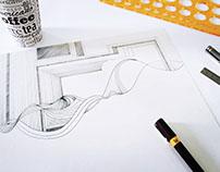 Graphic Design, Organic and inorganic lines..