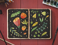 watercolor / sketchbook / 1