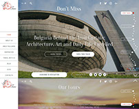 LyubaTours website design