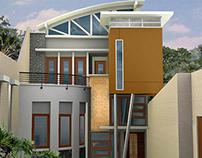 Arsitektur Rumah Kontemporer di Ngagel Surabaya