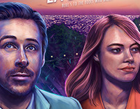 La La Land alternative movie poster illustration