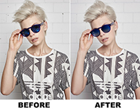 before and after product photo retouching