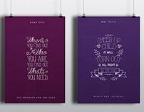 Disney Type Posters