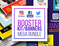 Social Media Booster Banners Collection Free