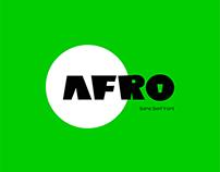 AFRO - A sans serif font