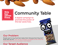 this bar saves lives: Community Table Campaign / App