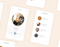 Daily UI #041 - Fitness app - free Sketch source