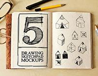 Drawing Sketch Pad Mockups