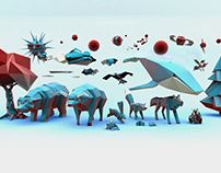 Low Poly models for animation