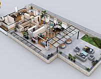 Penthouse 3d Virtual floor plan design
