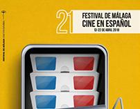 propuesta cartel festival de cine de Málaga
