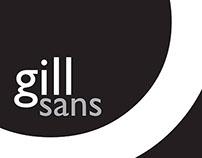 Gill Sans - A Type Specimen Poster