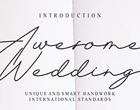 FREE | Awesome Wedding Font