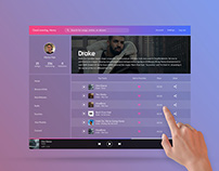 Music Streaming UI Exploration