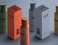 Cosmetics Bottle & Paper Box Mockup