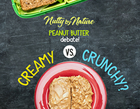 Nutty By Nature, Creamy vs Crunchy Designs