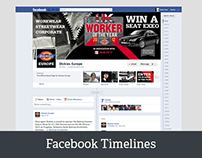 Love Creative UK facebook timeline branding/management