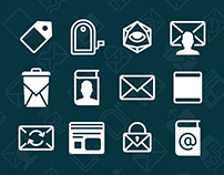 iOS 11 Mail vector icons