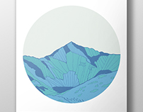 Snowdon Illustration Poster