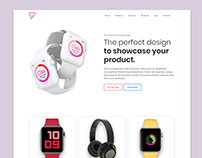 Product Creative Landing Page UI