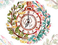 Flower &Pocket watch