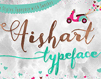 Aishart, Modern Calligraphy Typeface