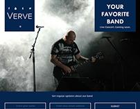 Verve Musician/Band Website Concept
