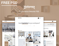 Workspace - Ecommerce Website FREE PSD