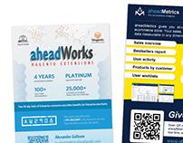 Print Design for aheadWorks.com