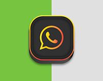 Whatsapp Icon Dark Editon