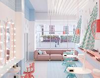 Design of the beauty salon