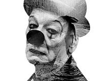 Sad Clown - Double Exposure