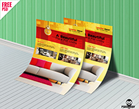 Interior Design Flyer Template Free PSD Download