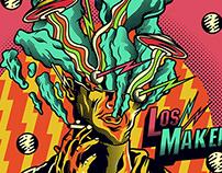 LOS MAKENZY AURA TOUR // PORTADA EP - POSTER