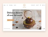 Website for Atlas pastry