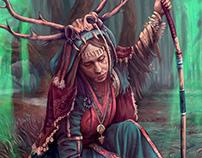 Shaman Conceptual Keyscene Illustration: Seidr