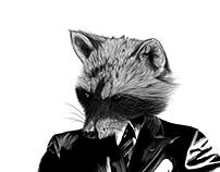 Mapache / Persona ilustración