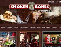 Website Design for Smoken Bones Cookshack (2011)