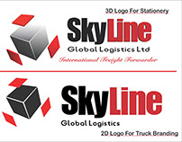 SkyLine Global Logistics Stationery and Truck Branding