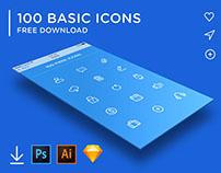 FREE - 100 Basic Icons