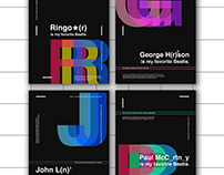 My favorite Beatle - minimal typo/graphic posters