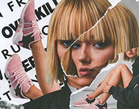 Adidas Campaign Collage Art