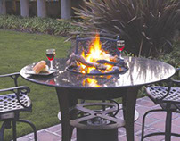 Granite Table Top with Stainless Steel Burner